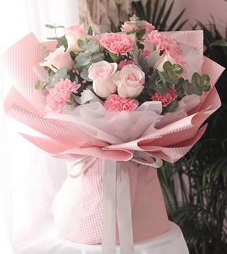 鲜花:感恩密码 11枝康乃馨