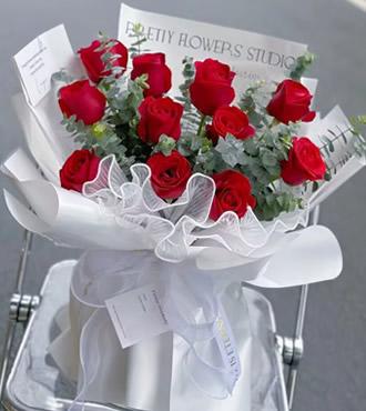 鲜花:爱红尘 10枝红玫瑰