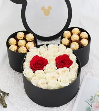 鲜花:幸福的恋人 21枝玫瑰
