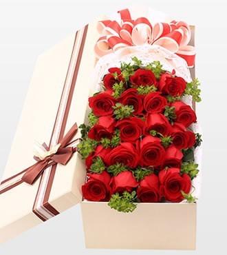 鲜花:浪漫有约 19枝红玫瑰