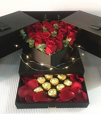 鲜花:亲爱的,我想你 19枝玫瑰
