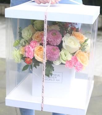 鲜花:韩式手捧花盒