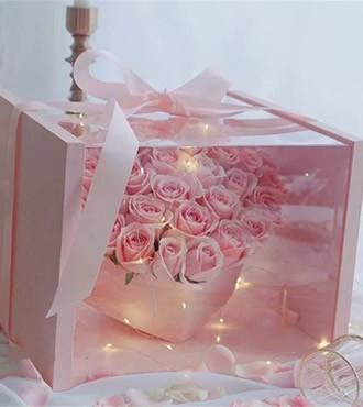 鲜花:唯一想念 33枝玫瑰