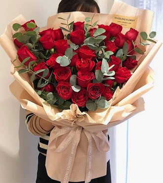 鲜花:爱妻 27枝红玫瑰