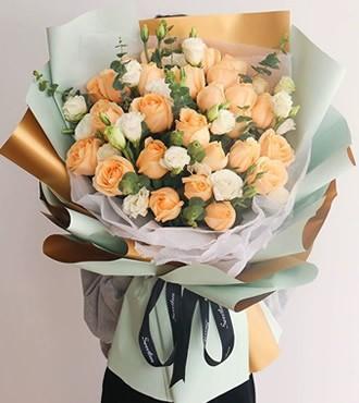 鲜花:当我遇见你 36枝红玫瑰