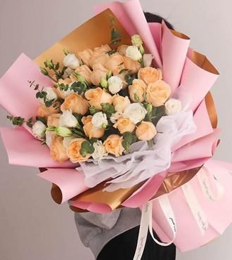 鲜花:想念的日子 29枝香槟玫瑰
