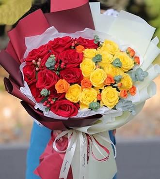 鲜花:你是我的另一半 22枝红玫瑰