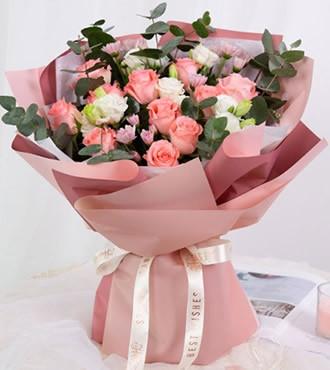 鲜花:天天想你 12枝红玫瑰