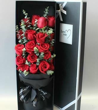 鲜花:念念不忘 19枝红玫瑰