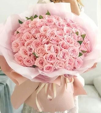 鲜花:情不自禁 99枝粉玫瑰