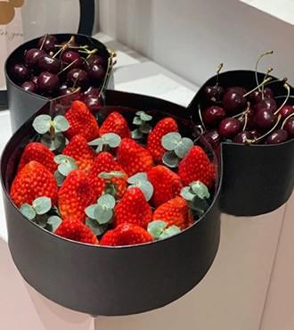 鲜花:相守 草莓车厘子
