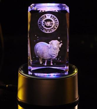 3D水晶内雕-白羊座(3月21日-4月20日)