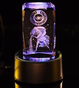 3D水晶内雕-水瓶座(1月20日-2月18日)