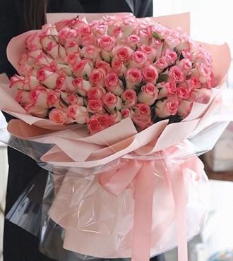 花篮:心语心愿 99枝艾莎玫瑰