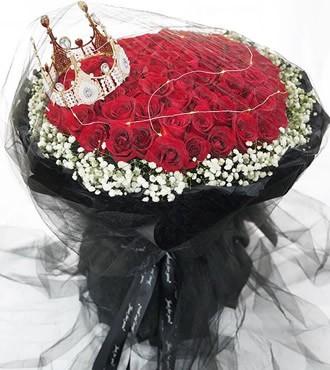 鲜花:真爱如初 52枝粉玫瑰