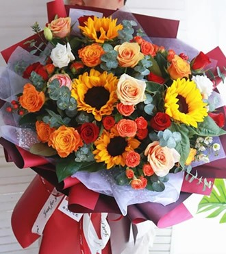 鲜花:爱如初见 混搭花束