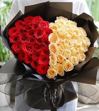 鲜花:心中旳爱 52枝双色