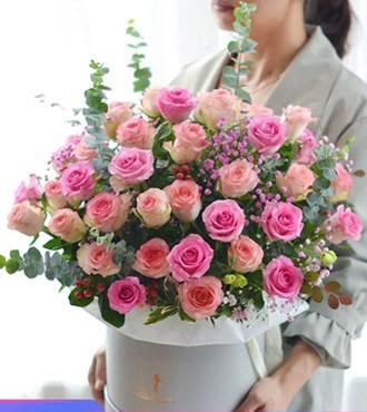 鲜花:梦里有你 玫瑰混搭