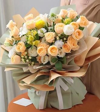 鲜花:人间至味是清欢 27枝玫瑰