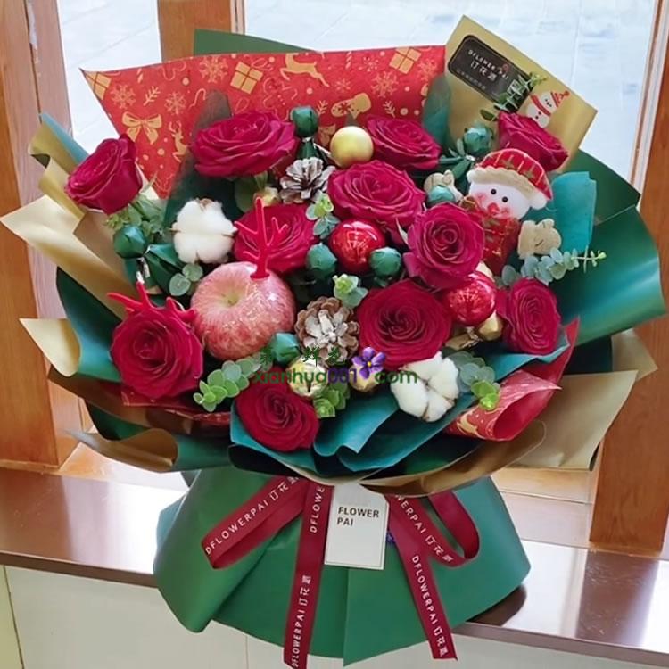 创意礼品 情人节教师节礼物 92朵香皂花玫瑰花礼盒